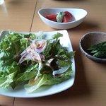 cafe nagisa - 前菜でこんなに沢山の野菜が!