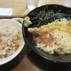 うどんの幸助 - 料理写真:ぶっかけ天ぷらうどん(600円)⁺かやくご飯セット(250円)