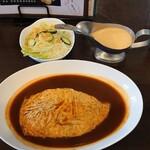 カジュアルカフェ あらびか - 料理写真:セットのプールライス、サラダ