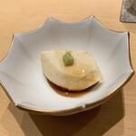 152219345 - 峯岡豆腐;とうもろこしのほのかな香りが上品
