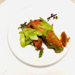 翆陽 - オマール海老と青豌豆の翡翠炒め