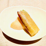 翆陽 - 北京ダック: オレンジピールが甜麵醬の中に入っているのが 爽やかです。