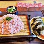 平八 - 「蕎麦と天むす」800円税込