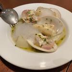 バール ア フロマージュ スーヴォワル - 仏産ホワイトアスパラガスと蛤のブレゼ