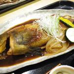 和食処旭屋 - あいなめ煮付のアップ