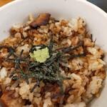 Shinjukumenyafuuka - まぶし飯、チャーシューがゴロゴロ入ってますよ
