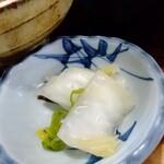 蕎麦割烹 黒帯 - 漬物