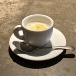 152236314 - ・本日のスープ                       (新玉ねぎの冷たいスープ)