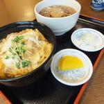 松かど - 日替のかつ丼そば付¥750