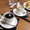 ダイヤコーヒー - ドリンク写真:ブレンドコーヒー 400円とサンドイッチセット 800円 (カフェ・オ・レとのセットで注文)