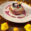 カフェ パンプルムゥス - 料理写真:6月限定 ブルーベリーチーズパンケーキ