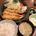 とんかつ藤 - 海老フライ定食