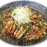 大志軒 - 季節限定「よだれ鶏冷やし黒醤油麺」