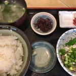 魚玉 - イワシ刺身定食 850円