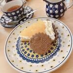 GALLERY&CAFE CAMELISH - 本日のケーキ(甘夏とヨーグルトクリームのタルト)