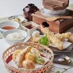 かごの屋 - 天ぷら定食