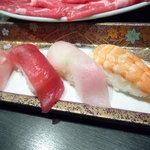 しゃぶ膳 - 月コースの握り寿司