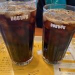 ドトールコーヒーショップ - アイスコーヒーMとS