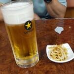 らーめん 勝 - 生ビール  500円