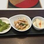 中国旬菜 茶馬燕 - 前菜三種盛り合わせ
