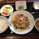 15233281 - 豚肉と五目野菜と玉子のオイスターソース炒め定食