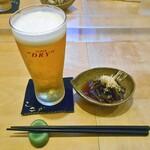 天ぷら処 こさか - 生ビール & お通し