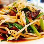 中華レストラン さんぷく - レバニラ炒めアップ