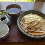 ほくほく庵 - ざるうどん+お吸物(630円+120円)