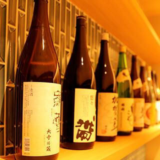 厳選された日本酒や、料理にぴったりなドリンクも豊富にご用意