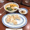 上海餃子 りょう華 - 料理写真:上湯半麺水餃子セット(950円)