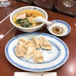 上海餃子 りょう華 - 上湯半麺水餃子セット(950円)