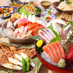 朝獲れ鮮魚 魚鮮水産 - 大漁コース お一人様3000円