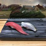 寿司の美登利総本店 - まぐろ赤身とコハダ