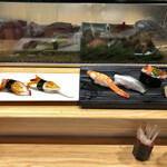 寿司の美登利総本店 - ボイルタコとゲソとエビとたこの吸盤