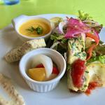 ラ ミシェル - 前菜とサラダの盛り合わせ