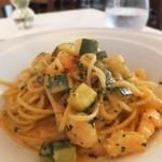 15237859 - 小海老とズッキーニのトマトソーススパゲッティ
