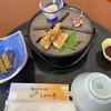 そば庵しづか亭 - 料理写真:フキの胡麻和え、筍土佐煮、あさつきと味噌、岩手県産ホタテとわさび和え