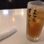 酒蔵 強三 - 夜は生ビールになるんでしょう(o^^o)