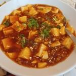 152377701 - メインの麻婆豆腐、辛口のはずが辛くない