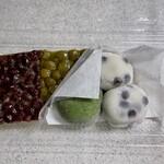 Demachifutaba - 名代豆餅 200円×2・田舎大福 220円・水無月 220円×3