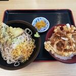 おか田 - かき揚げ丼セット