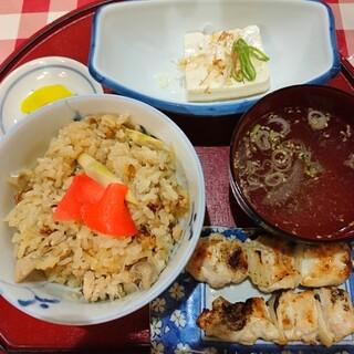 やき鳥 たつみ - 料理写真:Cセット とり飯定食(750円)