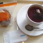 DOUTOR COFFEE - ハニーオレンジマフィンとホットティー