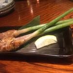 囲炉裏焼と蕎麦の店 うえ田 - 谷中生姜のベーコン巻き