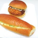 木村屋製パン所 - メンチカツとタマゴサラダ