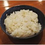 鳥料理 有明 - 鶏だし炊き込み御飯  100円