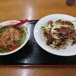 香満楼 - 料理写真:ラーメンセット 800円