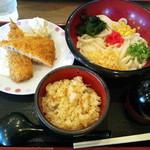 得得 - 料理写真:お昼の定食(アジフライ)