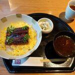 152440099 - うなぎ(赤出汁・漬物付) 780円 → インスタグラムフォローで10%OFF 702円                       ご飯・赤出汁お替り自由