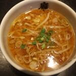 麺屋武蔵 巖虎 - ニンニクつけ麺のつけ汁